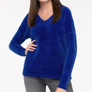 Blue Chenille Sweater
